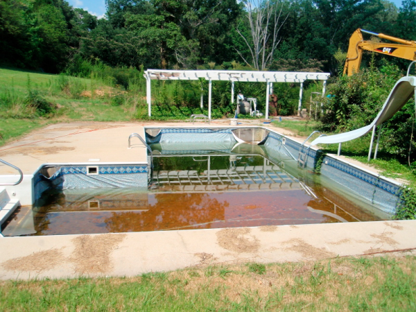 Can you install a fiberglass pool inside an existing pool?