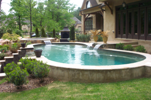 Negative Edge Spillover Fiberglass Pools