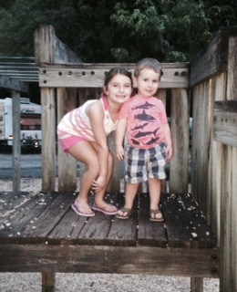 Kadyn and Brandt at Park
